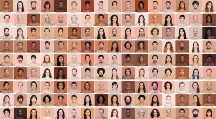 Reprodução de imagem do catálogo fotográfico Humanae, da artista e fotógrafa Angélica Dass